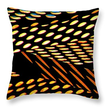 Throw Pillow featuring the photograph Ovals Of Light by Bill Kesler