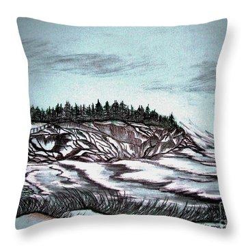 Oven's Park Nova Scotia Throw Pillow by Janice Rae Pariza