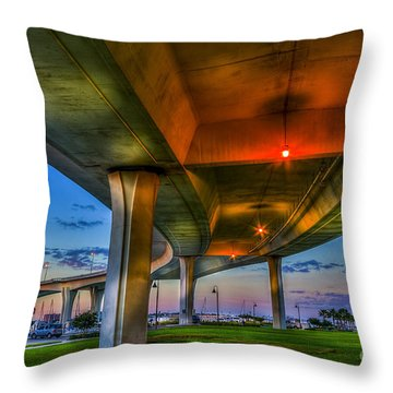 Over And Beyond Throw Pillow