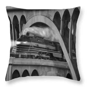 Over And Under Throw Pillow