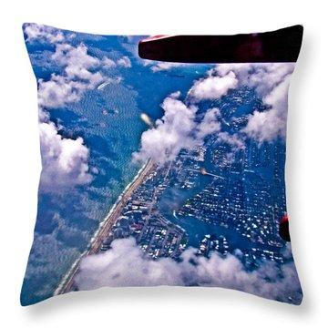Over Daytona Beach Throw Pillow