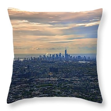 Over East New York Throw Pillow