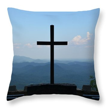 Over Looking His Creation Throw Pillow by Bob Sample