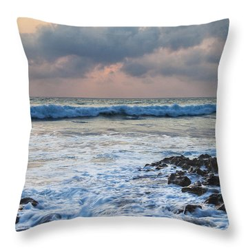 Over Rocks Throw Pillow by Jon Glaser