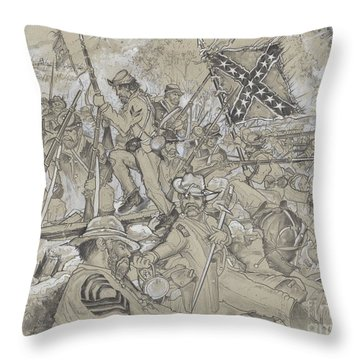 Over The Angle Throw Pillow