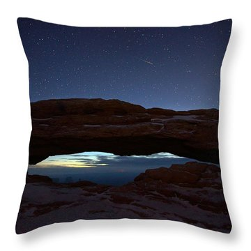 Throw Pillow featuring the photograph Over The Arch by David Andersen