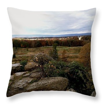 Over The Battle Field Of Gettysburg Throw Pillow