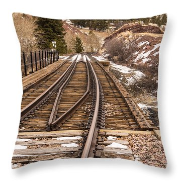 Over The Bridge Around The Bend Throw Pillow