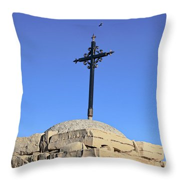 Over The Cross Throw Pillow