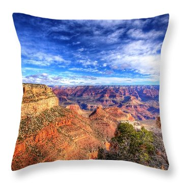 Over The Edge Throw Pillow by Dave Files