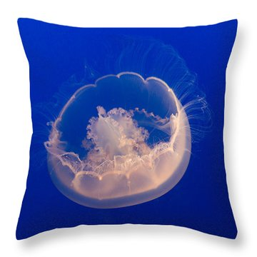 Over The Moon Jelly Throw Pillow