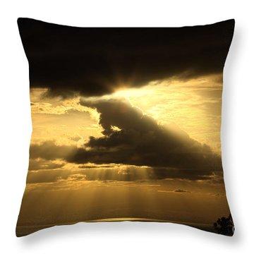 Over The Ocean Throw Pillow