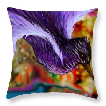 Over The Pond Throw Pillow