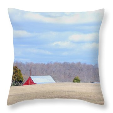 Over The Rise - Kentucky Throw Pillow by Paulette B Wright