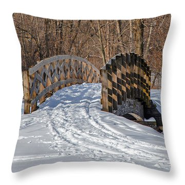 Over The River And Through The Woods Throw Pillow by Susan  McMenamin