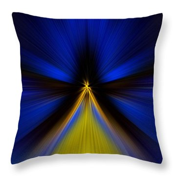 Throw Pillow featuring the digital art Over Yellow by Trena Mara