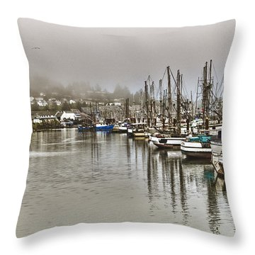Overcast Harbour Throw Pillow