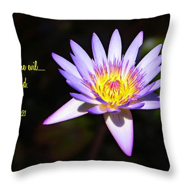 Overcome Evil Throw Pillow by Bill Barber