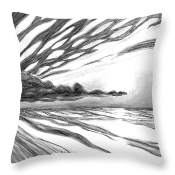 Overcome With Splendor Black And White Throw Pillow