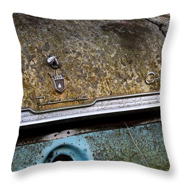 Throw Pillow featuring the photograph Overdrive Overgrown by Rebecca Davis