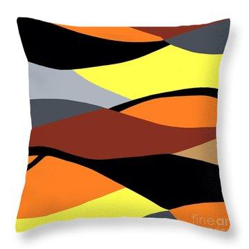 Overlap Throw Pillow by Eloise Schneider