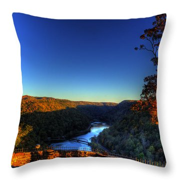 Throw Pillow featuring the photograph Overlook In The Fall by Jonny D