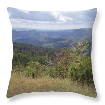 Throw Pillow featuring the photograph Overlook Into The Mist by Fortunate Findings Shirley Dickerson