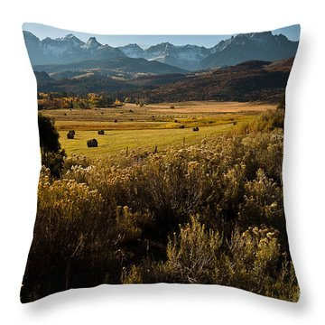 Overlook To Mt. Sneffles Throw Pillow by Steven Reed