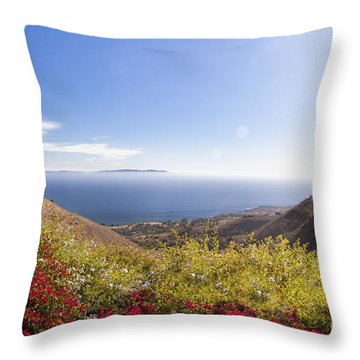 Overlooking Palos Verdes Estates Throw Pillow