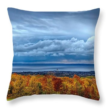 Overlooking The Bay Throw Pillow