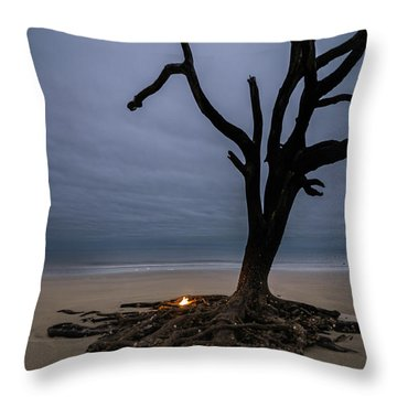 Overlooking The Ocean Throw Pillow by Serge Skiba