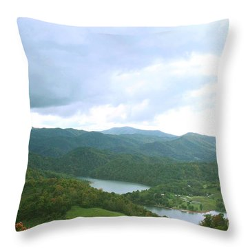 Overlooking Watauga Lake Throw Pillow