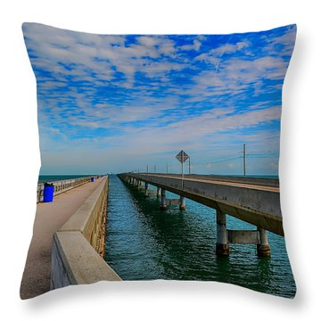 Overseas Highway Florida Keys Throw Pillow