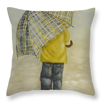 Oversized Umbrella Throw Pillow by Kelly Mills