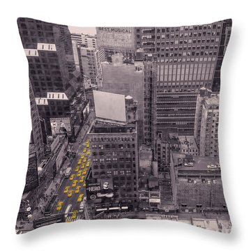Overwhelm Me New York  Throw Pillow