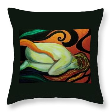 Overwhelmed Throw Pillow by Carolyn LeGrand