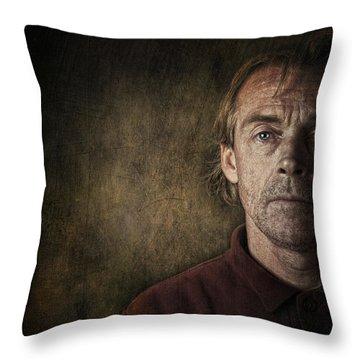 Overwhelmed... Throw Pillow by Sandra Cunningham