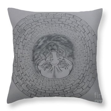 Overwhelmed With Description Throw Pillow by Gerald Strine