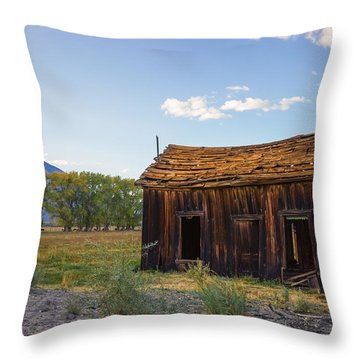 Throw Pillow featuring the photograph Owens Valley Shack by Priya Ghose
