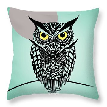 Owl 5 Throw Pillow by Mark Ashkenazi
