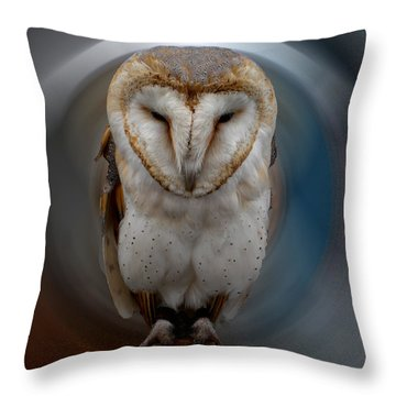 Owl Alba  Spain  Throw Pillow by Colette V Hera  Guggenheim