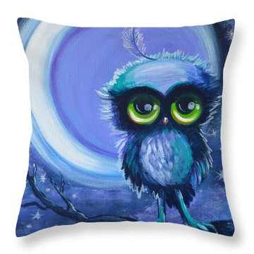 Owl Be Brave Throw Pillow