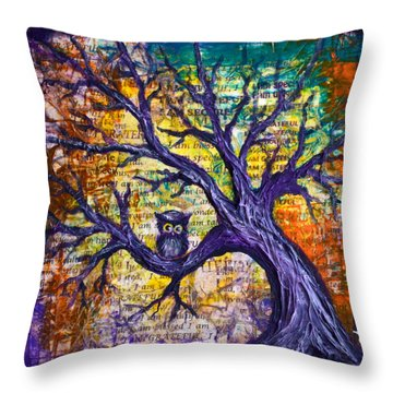 Throw Pillow featuring the painting Wisdom Of Gratitude by Agata Lindquist