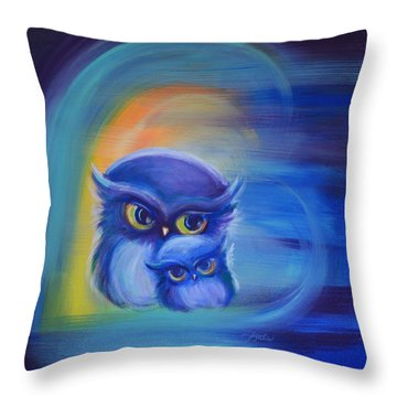 Throw Pillow featuring the painting Owl Always Love You by Agata Lindquist