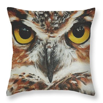 OwL Throw Pillow by Cherise Foster