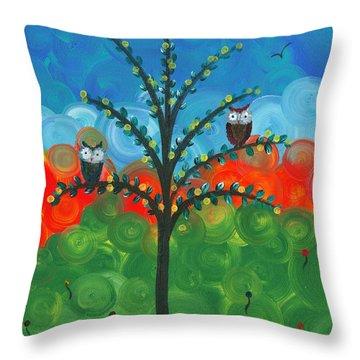 Owl Couples - 01 Throw Pillow
