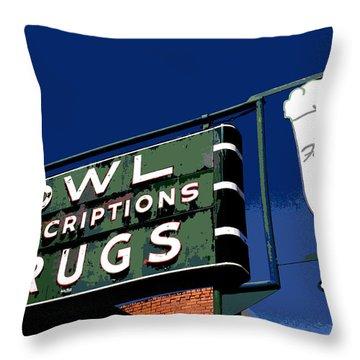Owl Drugs  Throw Pillow