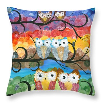 Owl Expressions - 00 Throw Pillow
