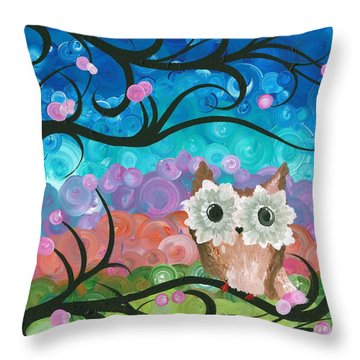 Owl Expressions - 01 Throw Pillow