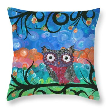 Owl Expressions - 02 Throw Pillow